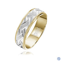 CrownRing Gold Men's Wedding Band-18kt-wy-6mm
