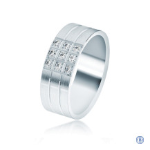 CrownRing Gold with Diamond Wedding Band