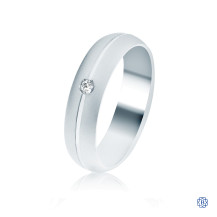 CrownRing Gold with Diamond Men's Wedding Band
