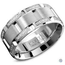 Carlex Gold with Diamond Men's Wedding Band