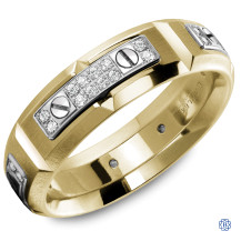 Carlex Gold and Diamond Wedding Band