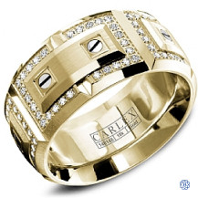 Carlex Gold with Diamond Men's Wedding Band-18kt-y