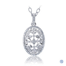 Gabriel & Co. 18kt White Gold Diamond Pendant